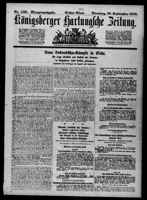 Königsberger Hartungsche Zeitung vom 19.09.1916