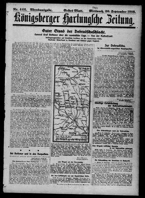 Königsberger Hartungsche Zeitung vom 20.09.1916