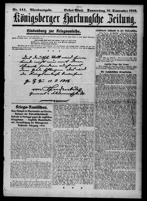 Königsberger Hartungsche Zeitung vom 21.09.1916