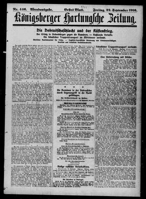 Königsberger Hartungsche Zeitung vom 22.09.1916