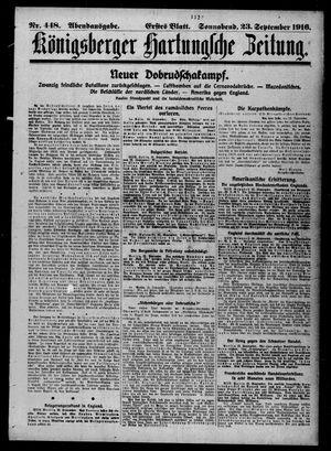 Königsberger Hartungsche Zeitung vom 23.09.1916