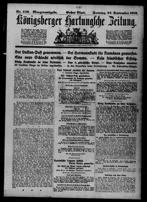 Königsberger Hartungsche Zeitung vom 24.09.1916