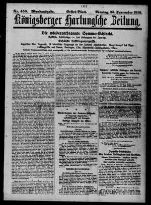 Königsberger Hartungsche Zeitung vom 25.09.1916