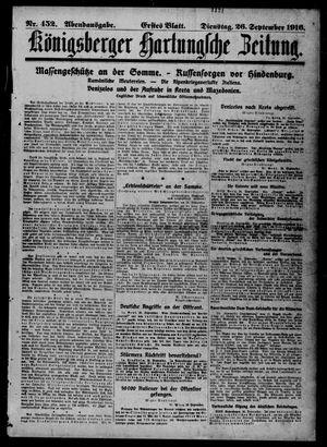 Königsberger Hartungsche Zeitung vom 26.09.1916
