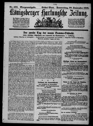 Königsberger Hartungsche Zeitung vom 28.09.1916