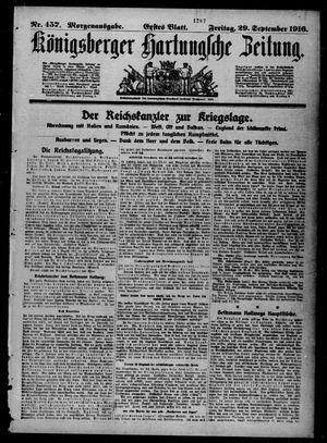 Königsberger Hartungsche Zeitung on Sep 29, 1916