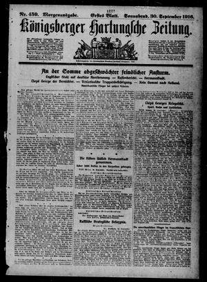 Königsberger Hartungsche Zeitung vom 30.09.1916