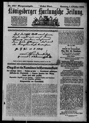 Königsberger Hartungsche Zeitung vom 01.10.1916