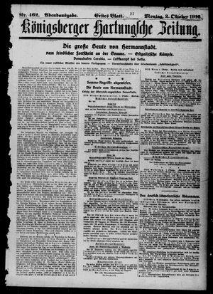 Königsberger Hartungsche Zeitung vom 02.10.1916
