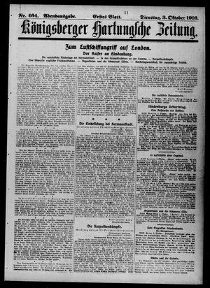 Königsberger Hartungsche Zeitung vom 03.10.1916