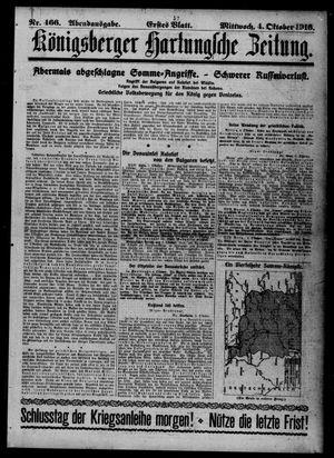 Königsberger Hartungsche Zeitung vom 04.10.1916