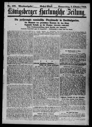 Königsberger Hartungsche Zeitung vom 05.10.1916