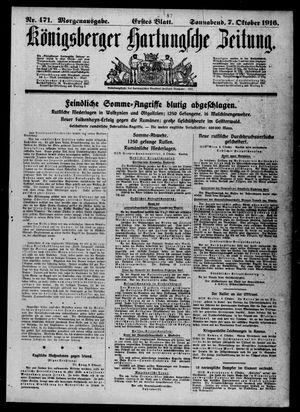 Königsberger Hartungsche Zeitung on Oct 7, 1916