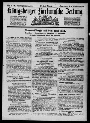 Königsberger Hartungsche Zeitung vom 08.10.1916