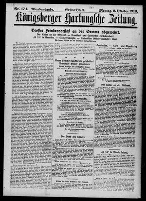 Königsberger Hartungsche Zeitung vom 09.10.1916