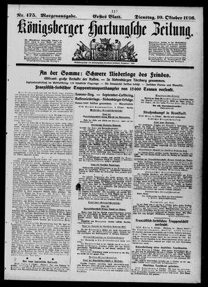 Königsberger Hartungsche Zeitung vom 10.10.1916