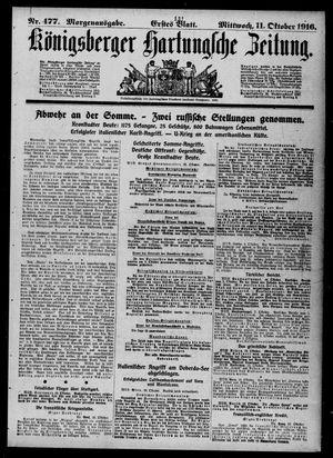 Königsberger Hartungsche Zeitung vom 11.10.1916