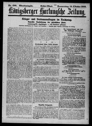 Königsberger Hartungsche Zeitung vom 12.10.1916