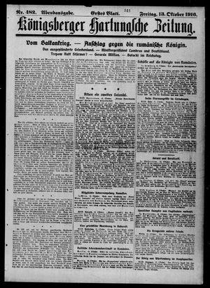 Königsberger Hartungsche Zeitung vom 13.10.1916