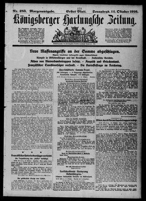 Königsberger Hartungsche Zeitung vom 14.10.1916