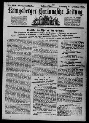 Königsberger Hartungsche Zeitung vom 15.10.1916