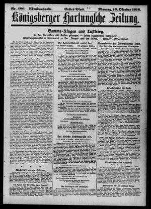 Königsberger Hartungsche Zeitung vom 16.10.1916