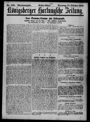 Königsberger Hartungsche Zeitung on Oct 17, 1916