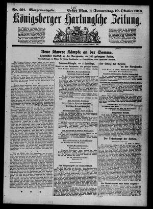 Königsberger Hartungsche Zeitung on Oct 19, 1916