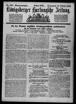 Königsberger Hartungsche Zeitung vom 21.10.1916