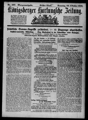 Königsberger Hartungsche Zeitung vom 22.10.1916
