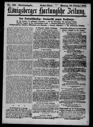Königsberger Hartungsche Zeitung vom 23.10.1916