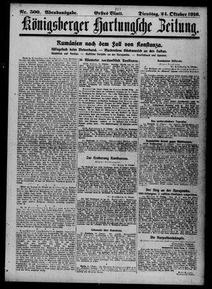 Königsberger Hartungsche Zeitung on Oct 24, 1916