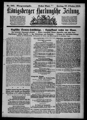 Königsberger Hartungsche Zeitung vom 27.10.1916