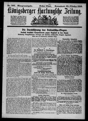 Königsberger Hartungsche Zeitung vom 28.10.1916