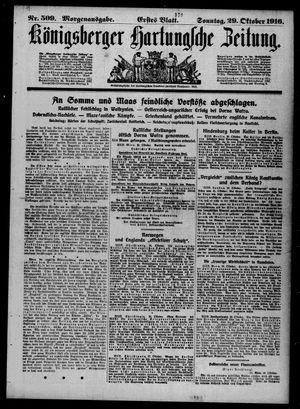 Königsberger Hartungsche Zeitung vom 29.10.1916