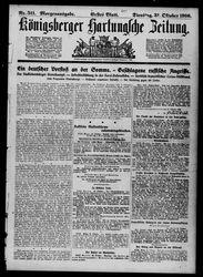 Königsberger Hartungsche Zeitung (31.10.1916)