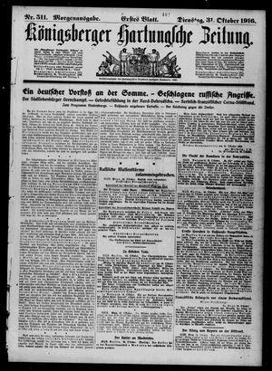 Königsberger Hartungsche Zeitung vom 31.10.1916