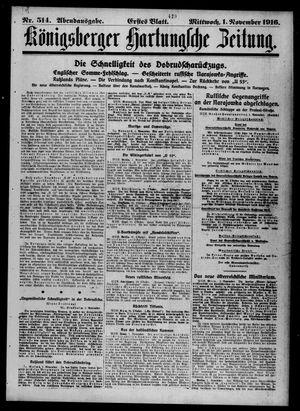 Königsberger Hartungsche Zeitung vom 01.11.1916