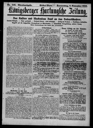 Königsberger Hartungsche Zeitung vom 02.11.1916