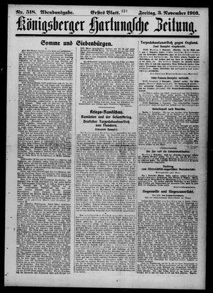 Königsberger Hartungsche Zeitung vom 03.11.1916