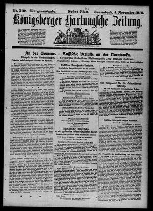 Königsberger Hartungsche Zeitung vom 04.11.1916