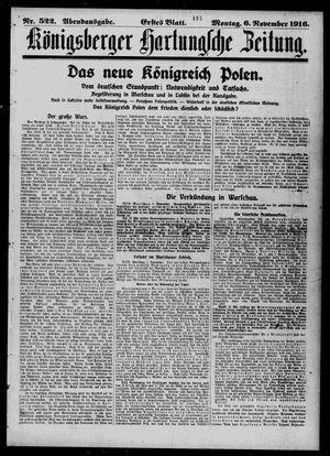 Königsberger Hartungsche Zeitung vom 06.11.1916