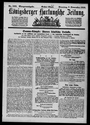 Königsberger Hartungsche Zeitung vom 07.11.1916