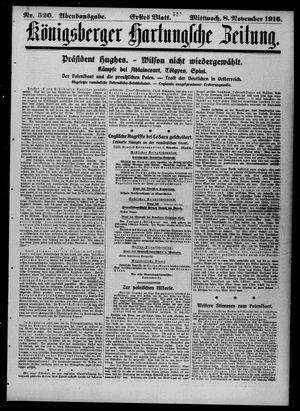 Königsberger Hartungsche Zeitung vom 08.11.1916