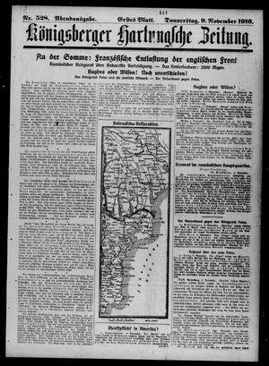 Königsberger Hartungsche Zeitung vom 09.11.1916