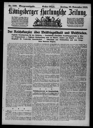Königsberger Hartungsche Zeitung vom 10.11.1916
