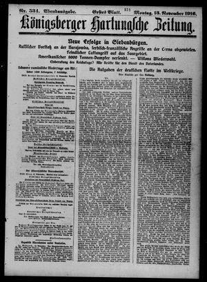 Königsberger Hartungsche Zeitung vom 13.11.1916