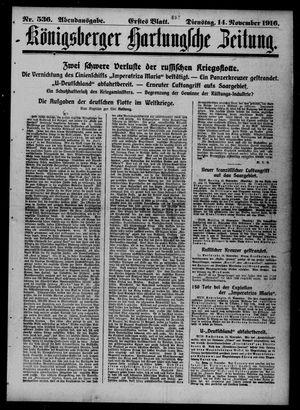Königsberger Hartungsche Zeitung vom 14.11.1916