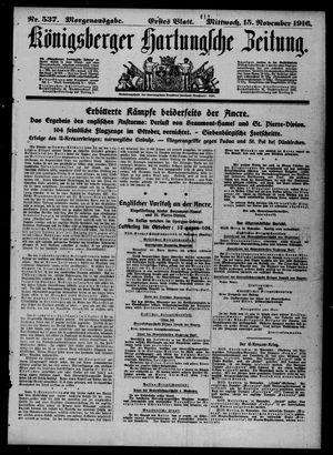 Königsberger Hartungsche Zeitung vom 15.11.1916