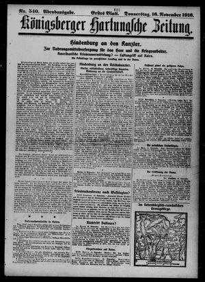 Königsberger Hartungsche Zeitung vom 16.11.1916
